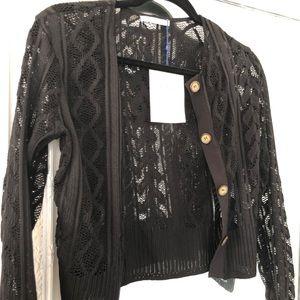NWT Zara Black Lace Cardigan